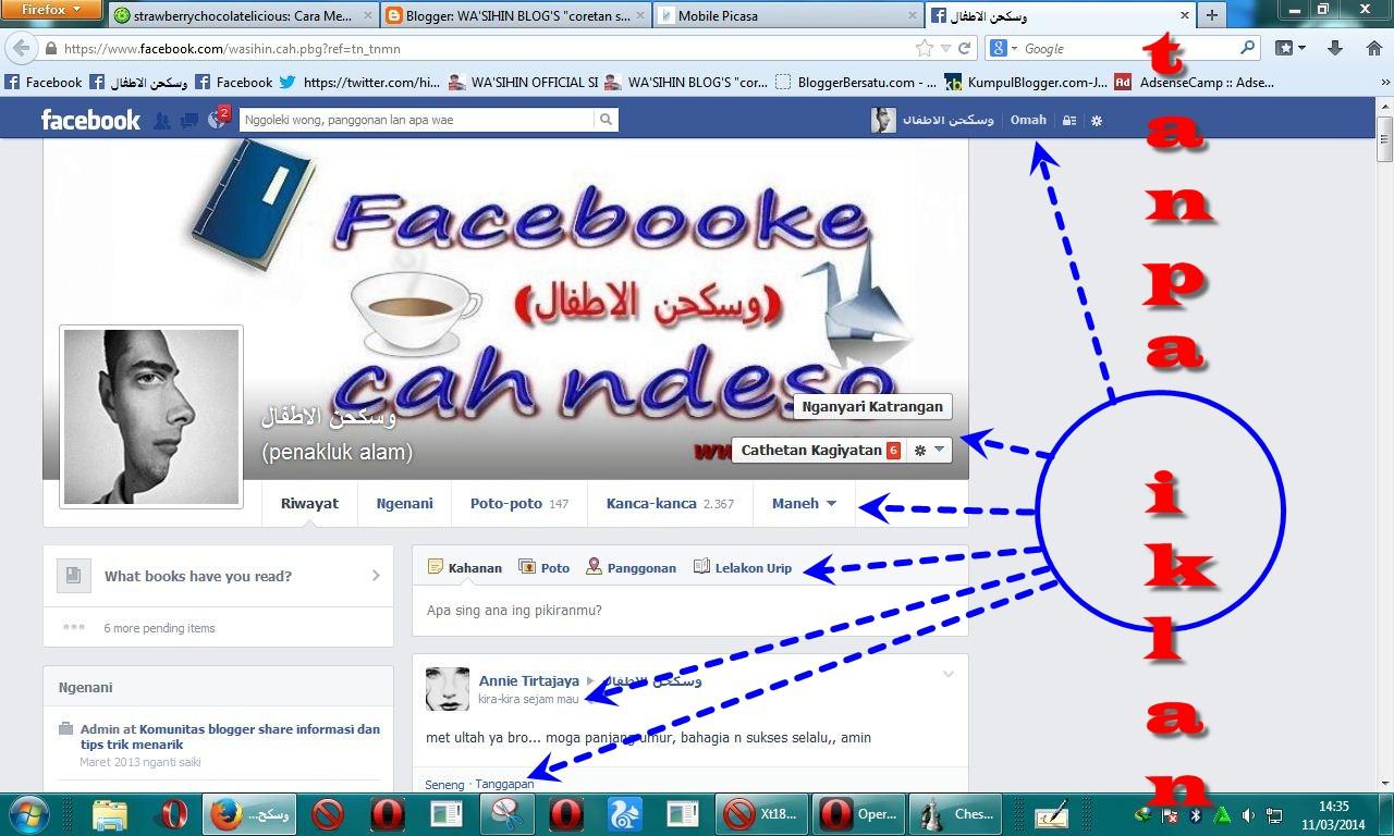 Mengubah Facebook Menjadi Bahasa Jawa Dengan Gambar SEPESIAL DI